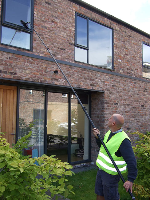 13 Pole fed Window cleaning Wirral West Kirkby