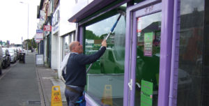 Shop and commercial Window Cleaning Wirral Birkenhead